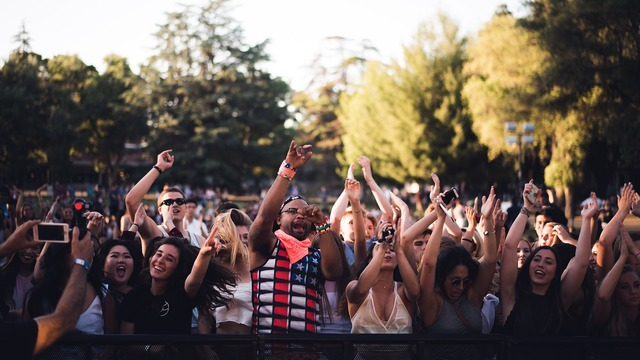 Stage crowd fans, sports.