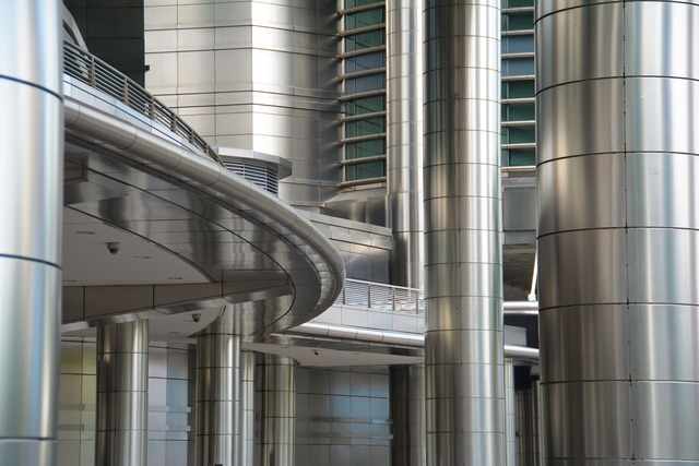 Stainless steel building design, architecture buildings.