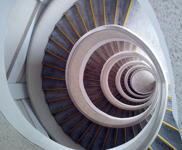 Staircase spiral tower, architecture buildings.