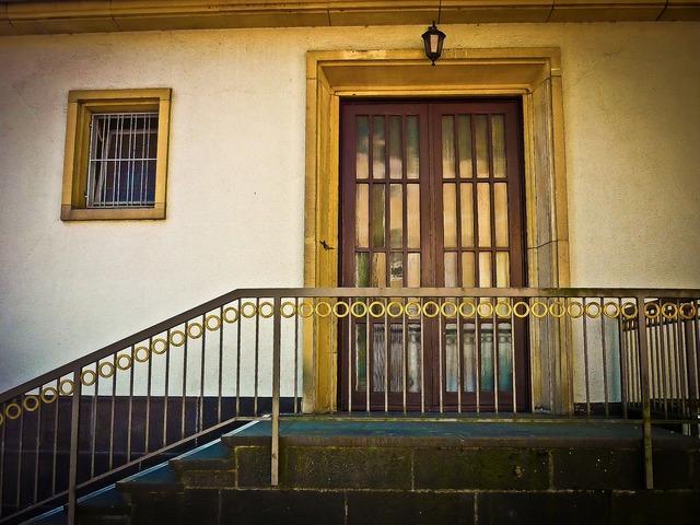 Stairs door building, architecture buildings.