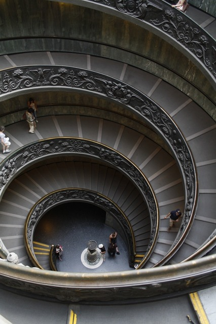 Stairs vatican rome, architecture buildings.