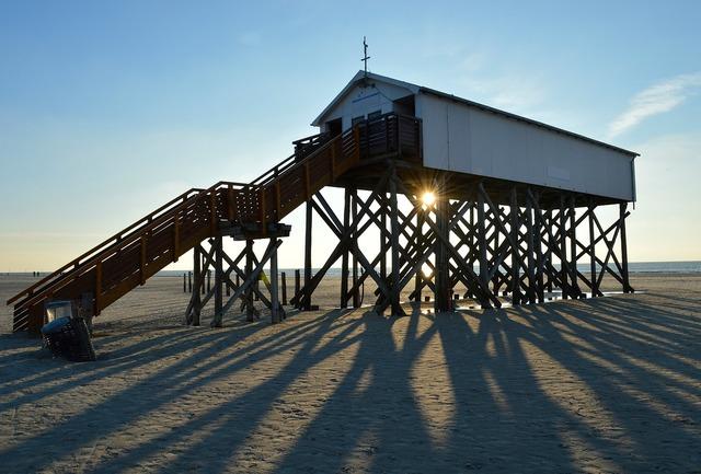 Stalk north sea beach, travel vacation.