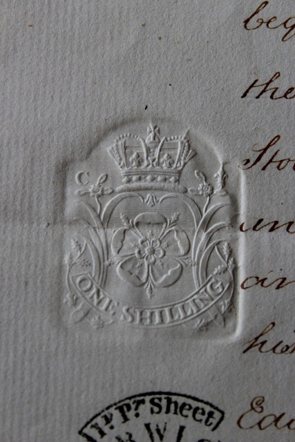 Stamp document seal.