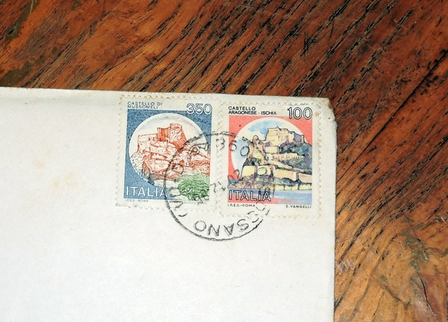 Stamp letter italy.