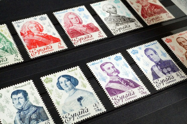 Stamps stamp collection philately.