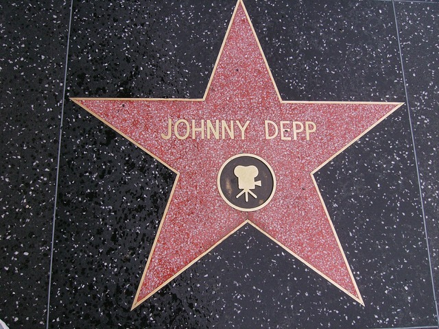 Star johnny depp hollywood, transportation traffic.