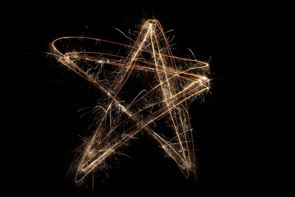 Star sparkler 4th of july.