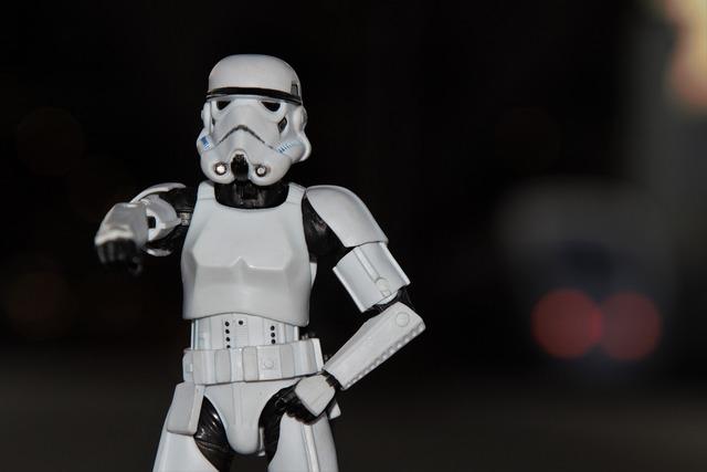 Star wars imperial stormtrooper toy figure.