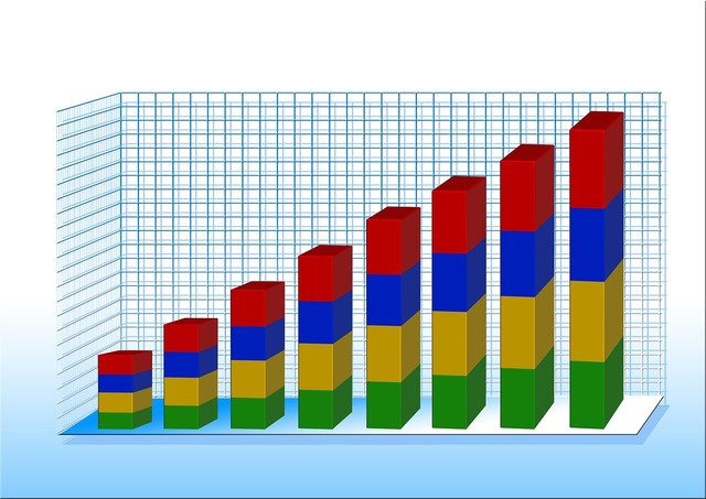 Statistics chart graphic, business finance.