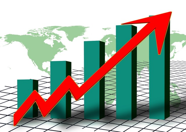 Statistics chart graphic, business finance.
