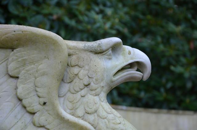 Statue adler bird, animals.