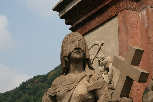 Statue bridge heidelberg, architecture buildings.
