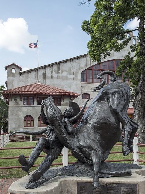 Statue honor cowboy, places monuments.