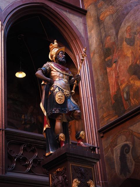 Statue lucius munatius plancus basel city hall, architecture buildings.