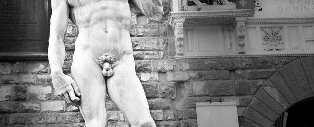 Statue marble david, architecture buildings.
