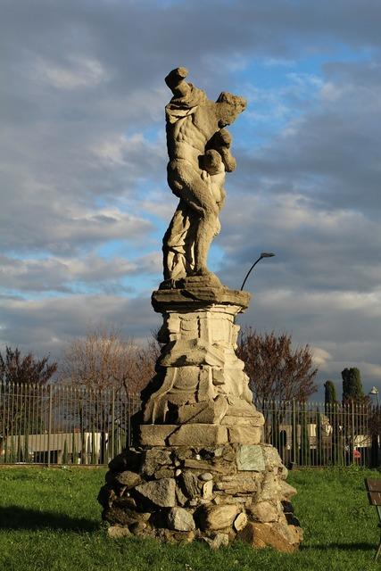 Statue of hercules merate italy.