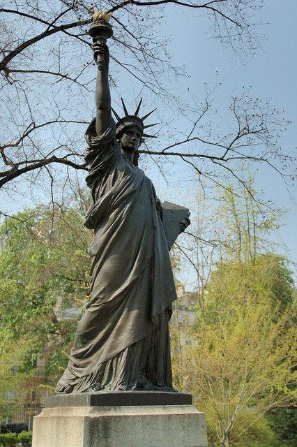 Statue of liberty luxembourg gardens paris, architecture buildings.