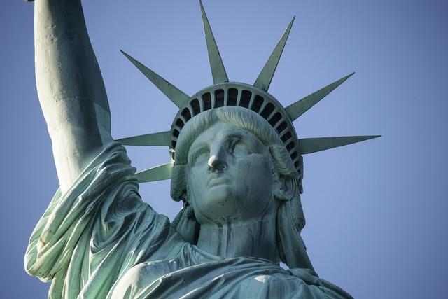 Statue of liberty new york landmark, places monuments.