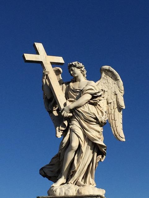 Statue rome italy, religion.