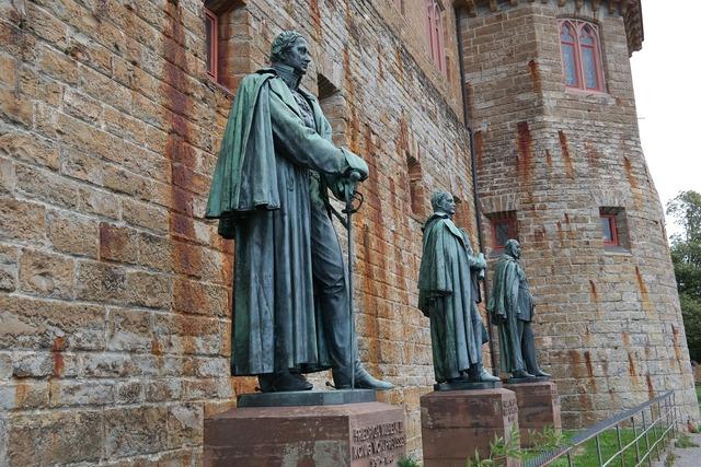 Statues hohenzollern bronze statues.