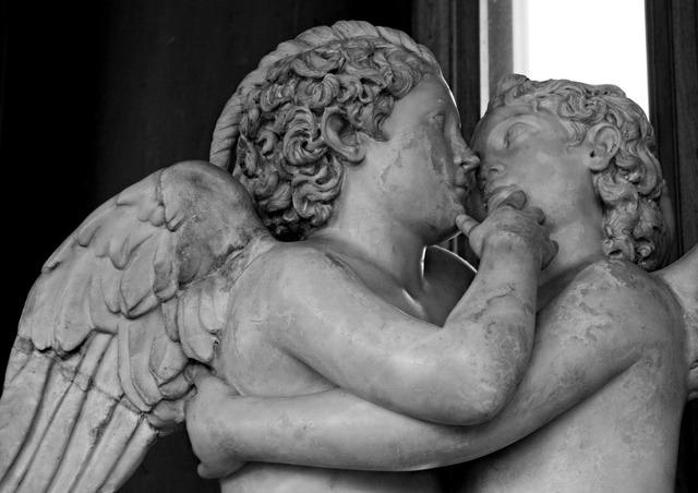 Statues uffizi florence, emotions.