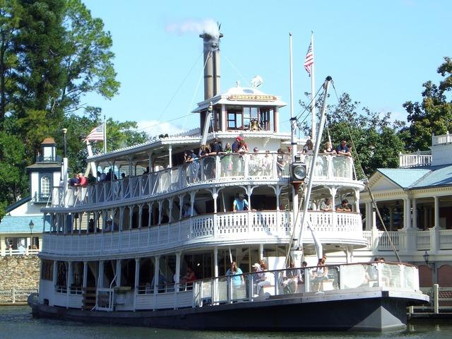 Steam boat river lake.