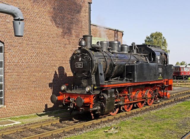 Steam locomotive museum locomotive shed.