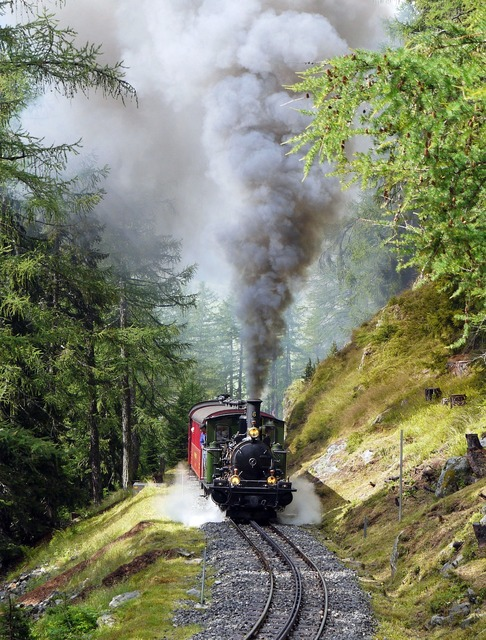 Steam locomotive narrow gauge rack railway, travel vacation.