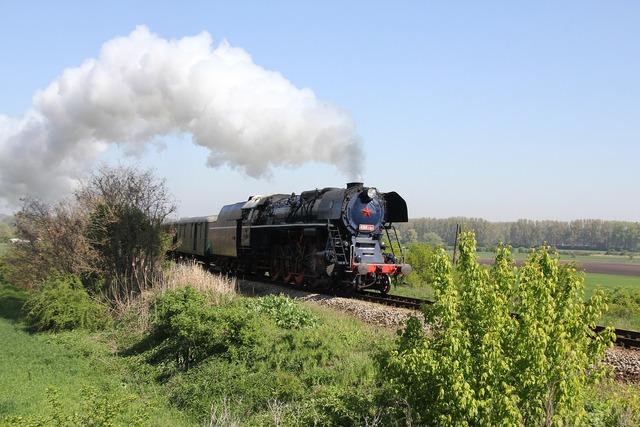 Steam locomotive special train railway.