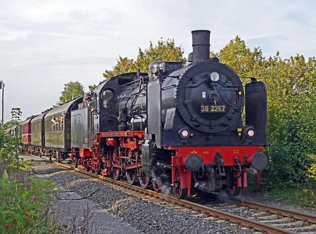 Steam locomotive steam train special train.