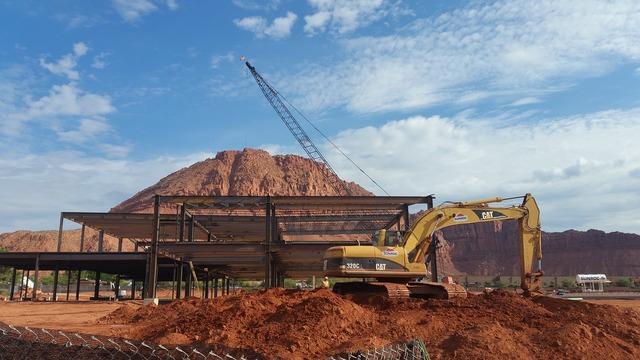 Steel building construction building, architecture buildings.