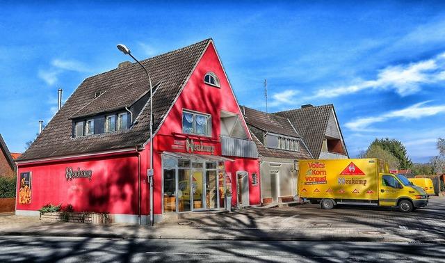 Steinfurt germany bakery, transportation traffic.