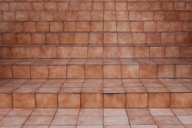 Steps ceramic tiles brown, backgrounds textures.