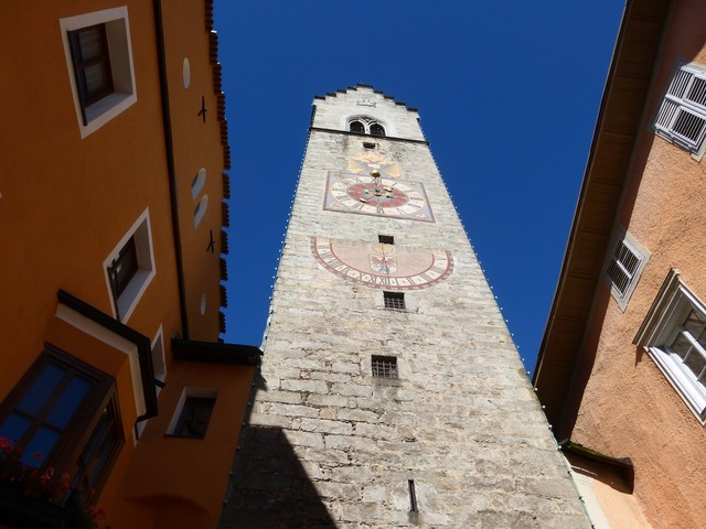 Sterzing south tyrol clock tower, architecture buildings.