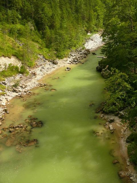 Steyrische salza river austria.