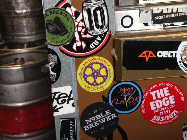 Sticker keg stickers.