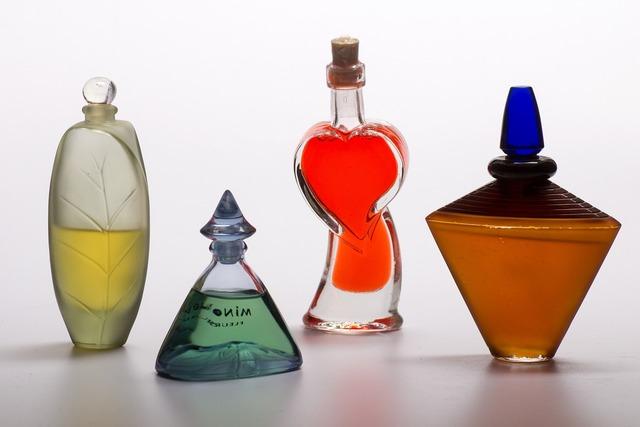 Still life bottles perfume.