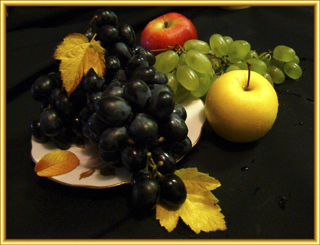 Still life fruit picture, food drink.