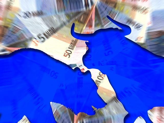 Stock exchange bull bear, business finance.