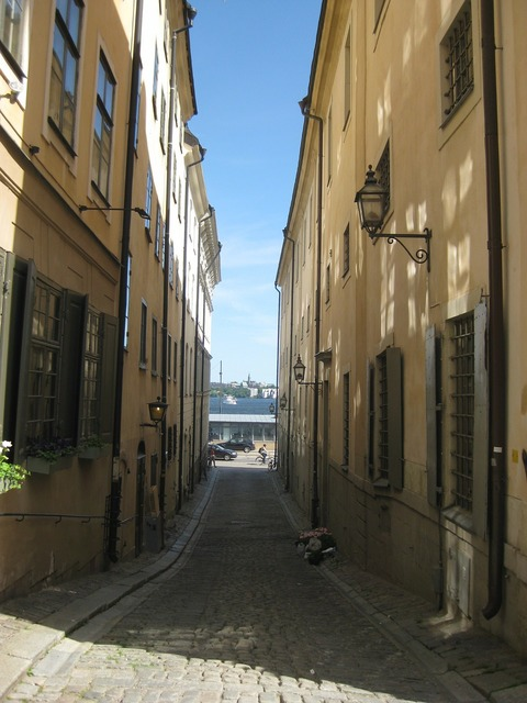Stockholm gamla stan old town, architecture buildings.