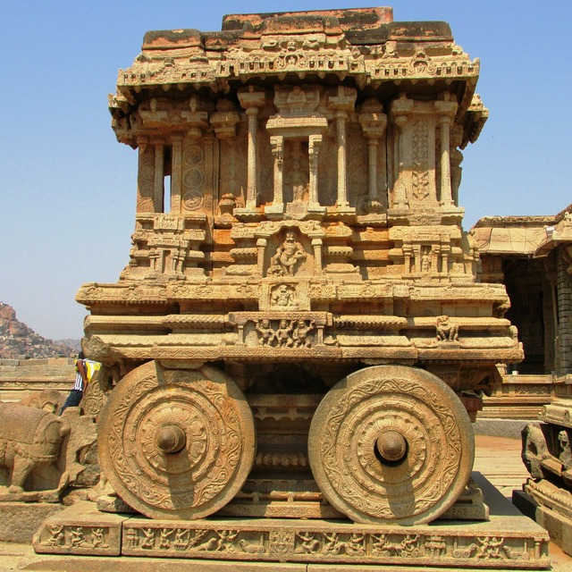 Stone chariot hampi unesco world heritage site, places monuments.
