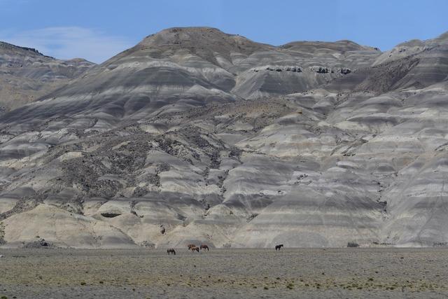Stone desert mountain sculpture, nature landscapes.