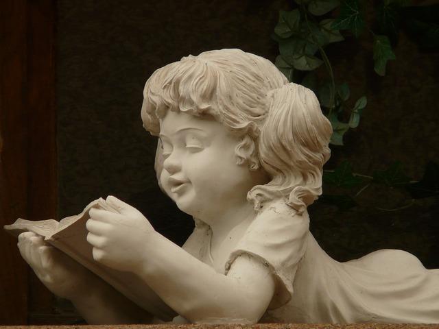 Stone figure girl stonemasonry, people.