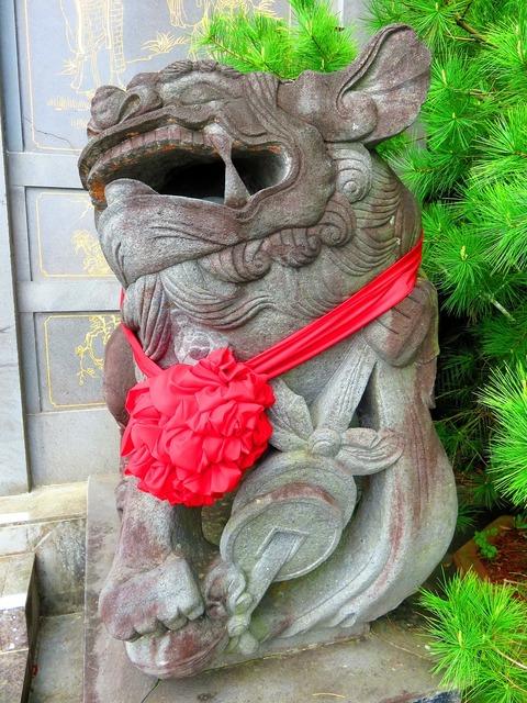 Stone lions evil shishi.