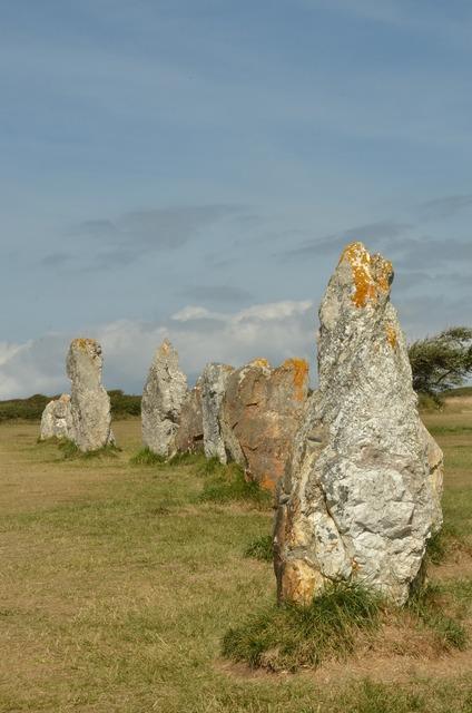 Stone rock menhir.