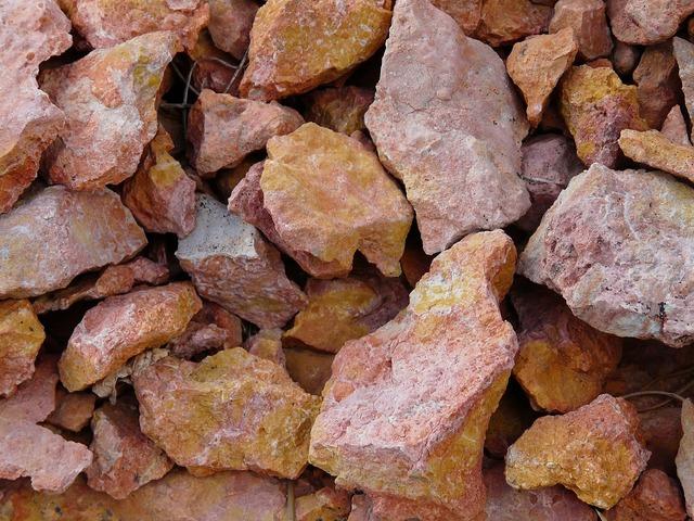 Stone rock scree.