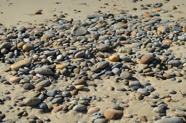 Stone round smooth, travel vacation.