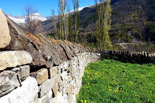 Stone wall enclosure rural.