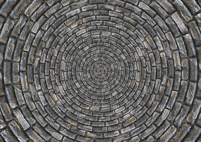 Stones patch circle, backgrounds textures.