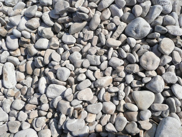 Stones pebbles beach, travel vacation.